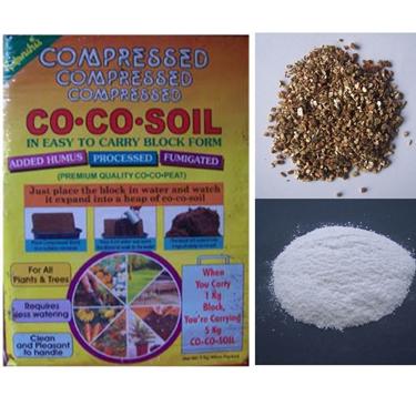 Cocopeat +Vermiculite + Perlite