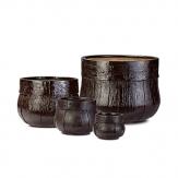 Fibreglass Planters - Wooden Finish