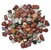 Mixed Coloured Pebbles - Polished